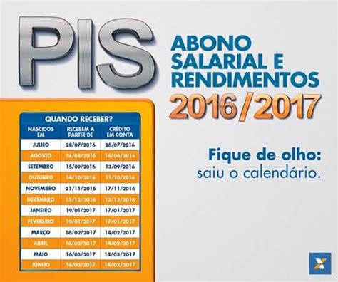Calendario Pis Expresso Da V 193 Rzea Calend 193 Do Pis Abono Salarial 2016