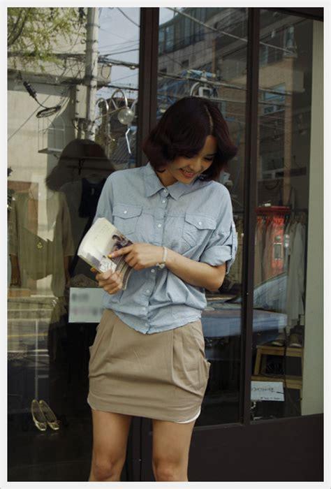 Dress Import Pink Biru Cotton Textured Cina Korea Murah pocket skirt villet co ltd from villet co ltd b2b marketplace portal south korea