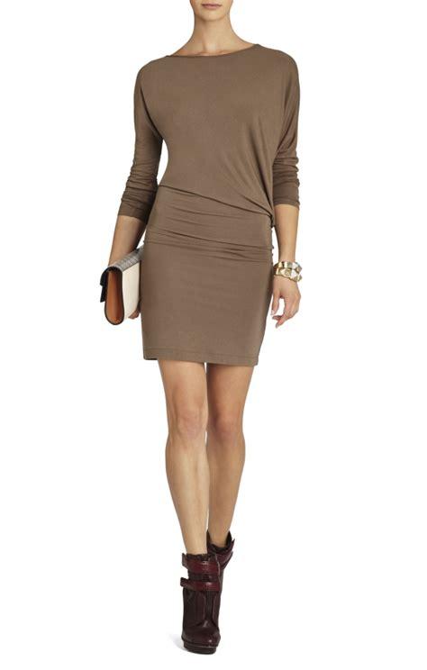 bcbg draped dress bcbg laheld long sleeve side draped tunic dress eyk1l580