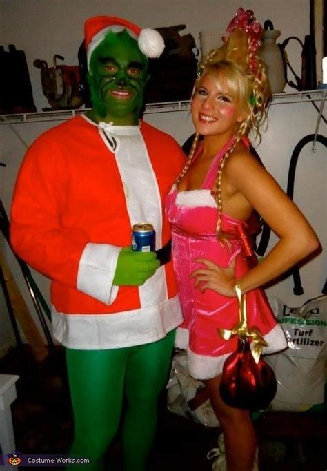 diy grinch and lou who so the grinch and lou who costume diy couples costumes costumes and