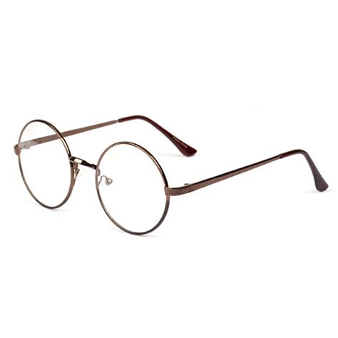 fashion unisex retro circle metal frame eyeglasses