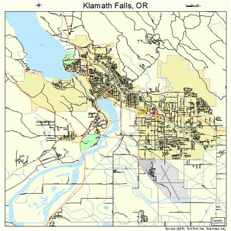 map of oregon falls klamath falls oregon images