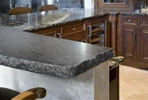 granite counter tolp with chiseled edge granite