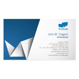 Business Card Origami - administrative business cards 4 000 business card templates