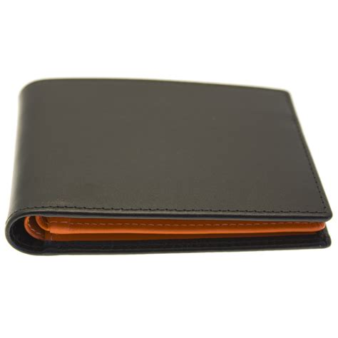 Sell Mastercard Gift Card - ettinger leather billfold wallet 12 credit cards black orange ebay