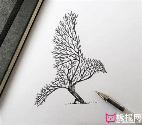 surrealismus libro gratis descargar 大师黑白手绘插画图片 动物联想 中华板报网