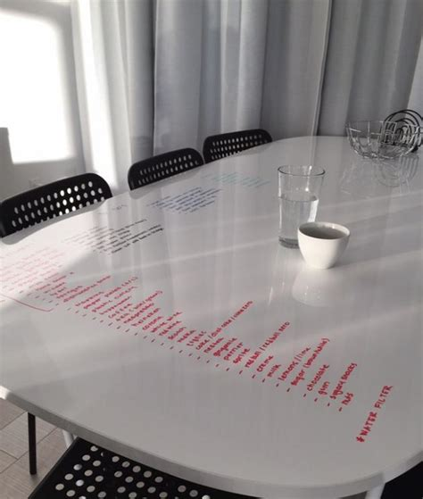 My Dining Table Is Also A Giant Dry Erase Board Erase Table