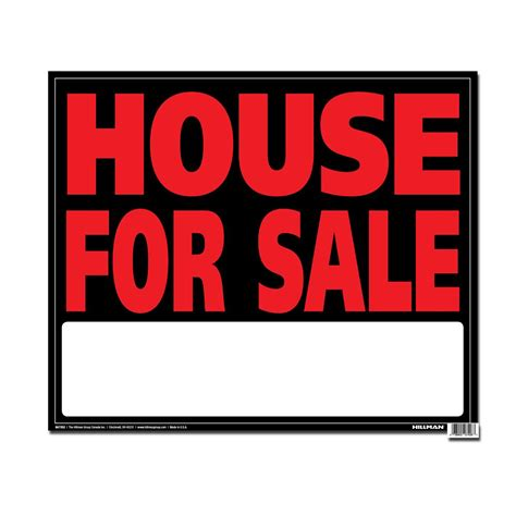 hillman 19 x 24 jumbo sign house for sale the home