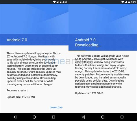 Android Update 7 0 how to get android 7 0 nougat ota update instantly for