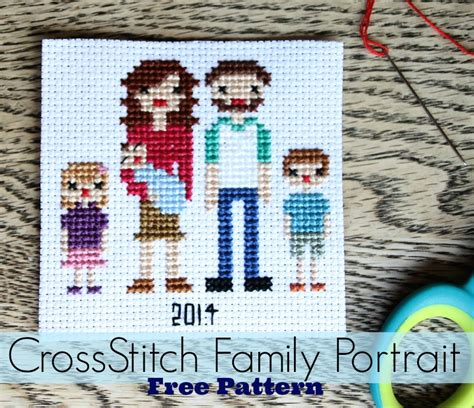 cross stitch pattern design your own cross stitch family portrait free patterns do small