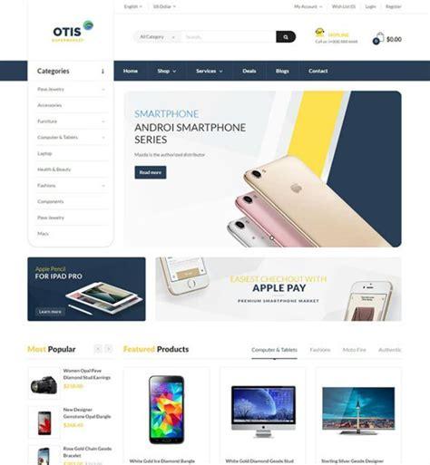 opencart template builder pav otis advanced opencart theme for digital