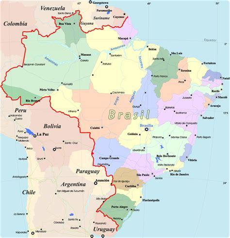brasil mapa do brasil pol 237 tico