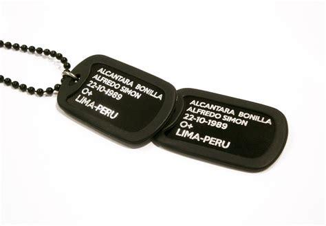 chapas militares personalizadas placas de identificaci 243 n placas militares personalizadas
