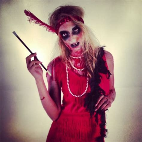 zombie flapper tutorial red flapper fashion dress