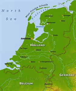 Holland World Map by Holland Geography Map