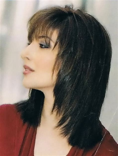 hairstyles with fringe shoulder length medium choppy hairstyles with bangs