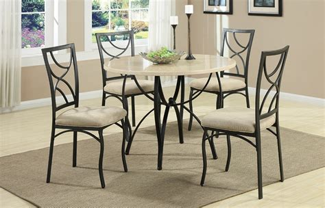 Slate Dining Table Set Casey 5pc Slate Table Top Dining Set