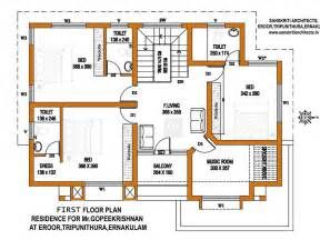 Home Floor Designs by Kerala House Plans With Estimate For A 2900 Sq Ft Home Design