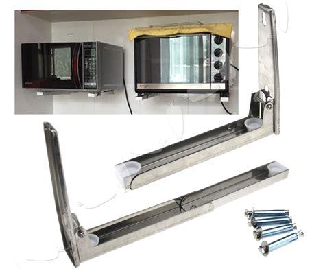 Microwave Mounting Shelf by Microwave Oven Bracket Wall Mount Foldable Stretch Shelf