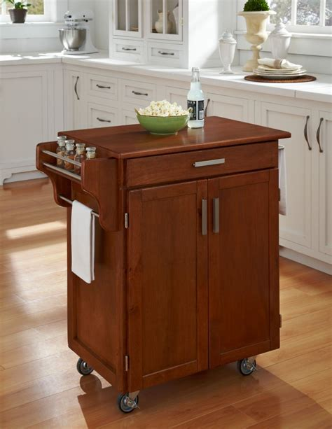 cuisine cart warm oak finish with oak top 9001 0066g