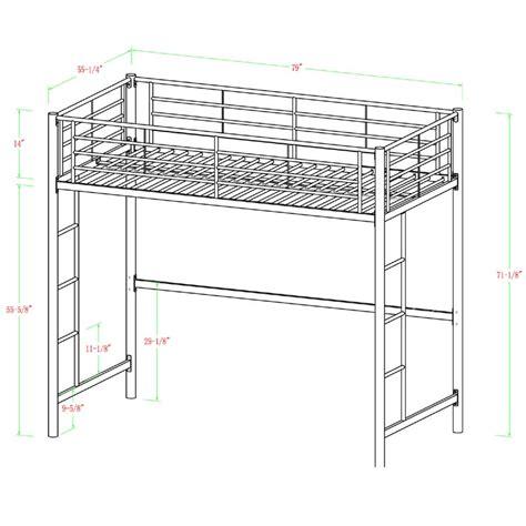 white size loft bed walker edison steel size loft bed white bdolwh