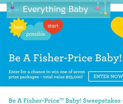 New Baby Sweepstakes - be a fisher price baby sweepstakes 2015 sweeps maniac