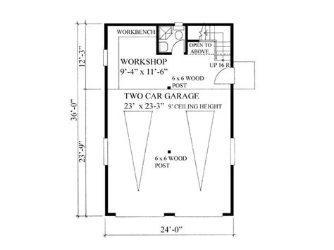 Garage Shop Floor Plans Garage Workshop Plans 2 Car Garage Workshop Plan With