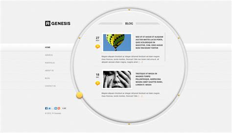 themeforest genesis r gen circle creative psd template by r genesis