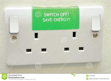 Energy Saving House Plans Save Energy Sign On Plug Sockets Stock Photo Image 21446428