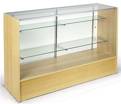 displays2go display products pos retail fixtures maple melamine glass showcase checkout counters