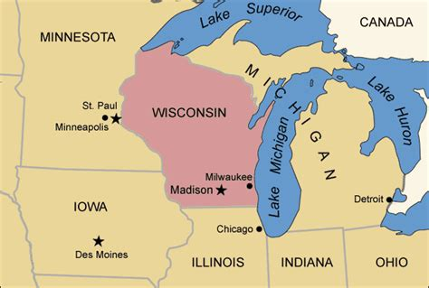 united states map midwest midwest map regional