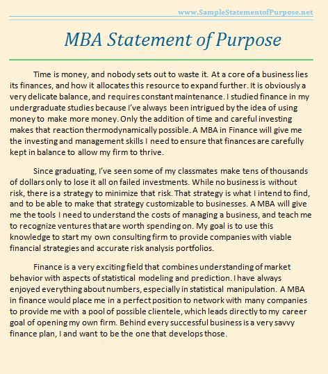 Only Mba In Internship by Professional Mba Statement Of Purpose Exles