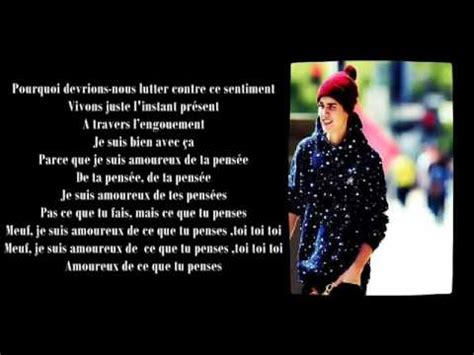 krafta justin bieber thought of you justin bieber thought of you french translation youtube