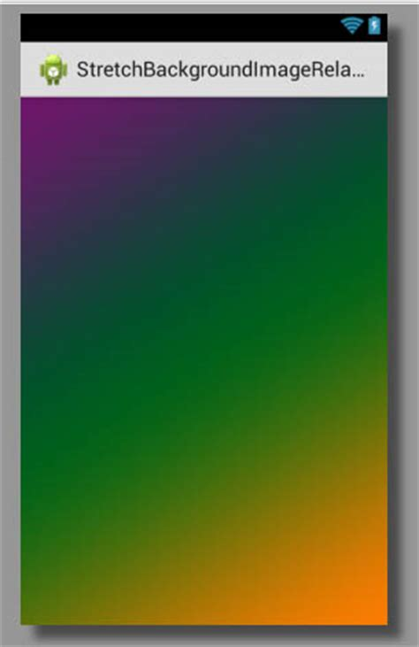 stretch background image  relativelayout android