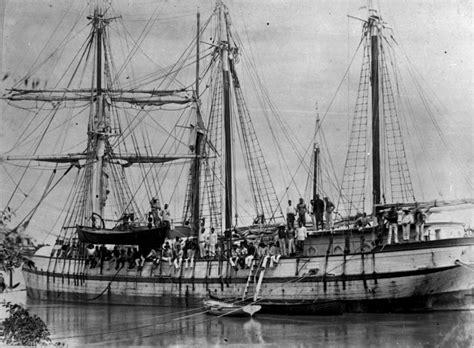 boat transport europe to australia south sea islanders arriving in bundaberg by ship c1893