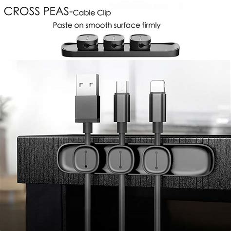 Magnetic Cable Organizer unooe desk magnetic cable organizer gadgetsin