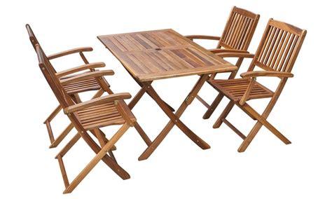 sedie in legno da esterno tavolo e sedie da esterno in legno groupon