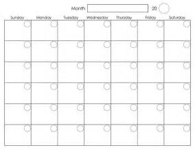 Month Calendar Template by Best 25 Printable Monthly Calendar Ideas On