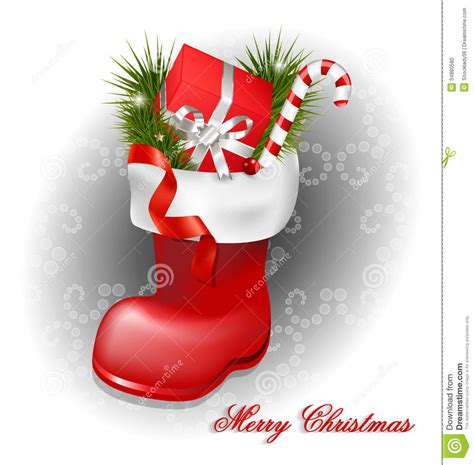 imagenes zapatos de navidad fondo decorativo de la bota de la navidad stock de