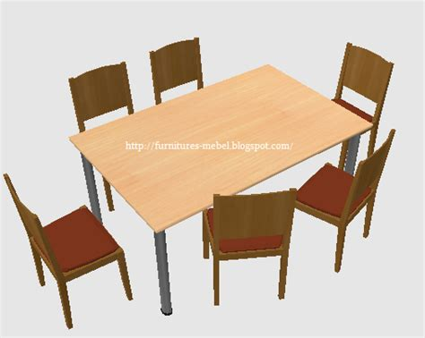 Kursi Plastik Dan Meja desain meja makan persegi minimalis furniture mebel