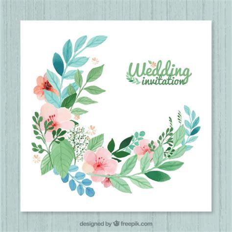 flower wedding invitation vector floral wedding invitation vector free