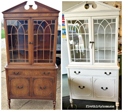 Special Paint For Kitchen Cabinets before and after china cabinet in marzipan