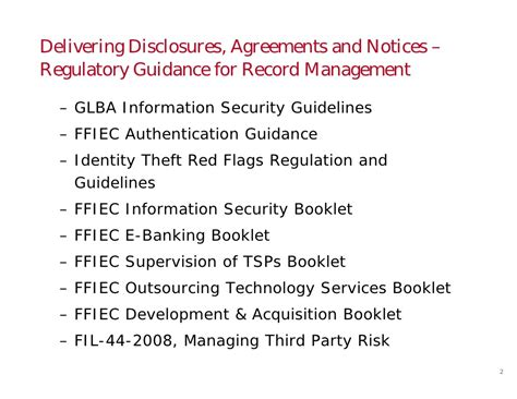 E Signature Webcast For Financial Services Legal Counsel Slides Ffiec Authentication Guidance Risk Assessment Template