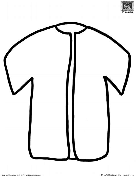 Jaket Oor jacket coloring page template raincoat outline for