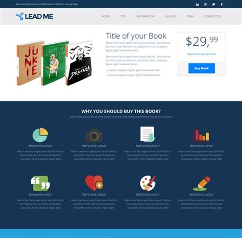 landingpage template 40 innovative landing page templates