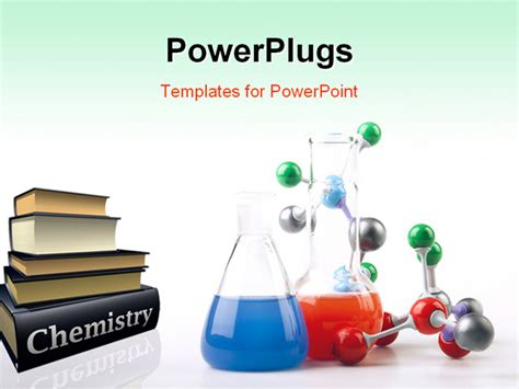 chemistry powerpoint template free powerpoint template pile of chemistry textbooks with