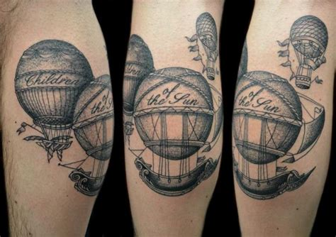 tatouage fantaisie dotwork ballon par tin tin tattoos