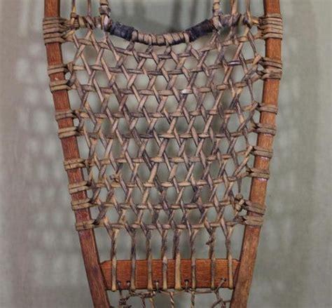 Handmade Snowshoes - pair antique new primitive handmade snowshoes
