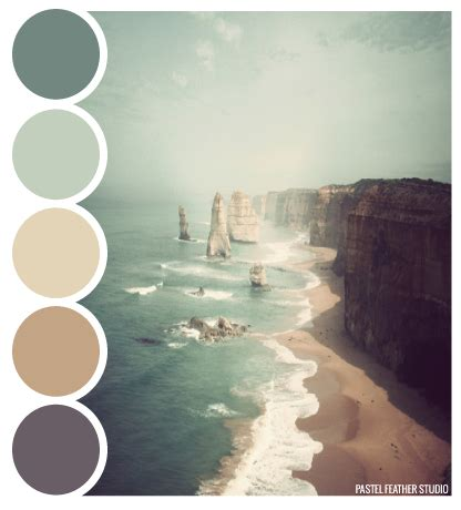 Beach Color Beach Palette Color Palette P Stel Feather Studio
