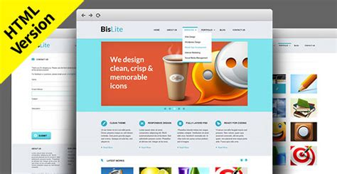 Bislite Free Html Website Templates Freebiesbug Website Code Template